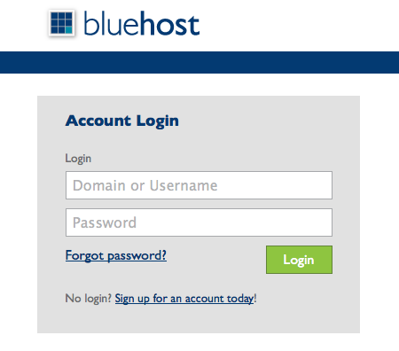 bluehost log in
